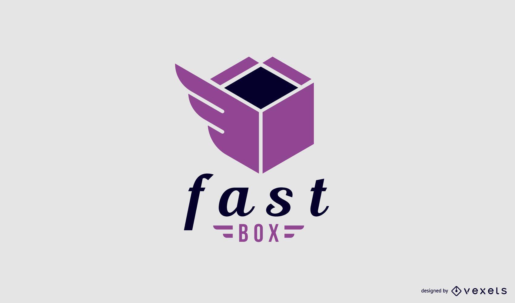 Design de modelo de logotipo de entrega rápida
