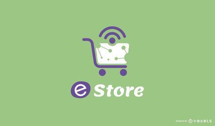 Online shop editable logo design