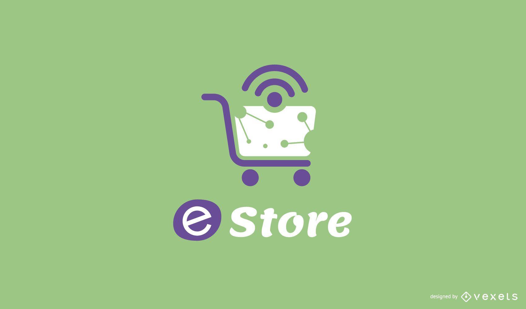 Design de logotipo editável da loja online