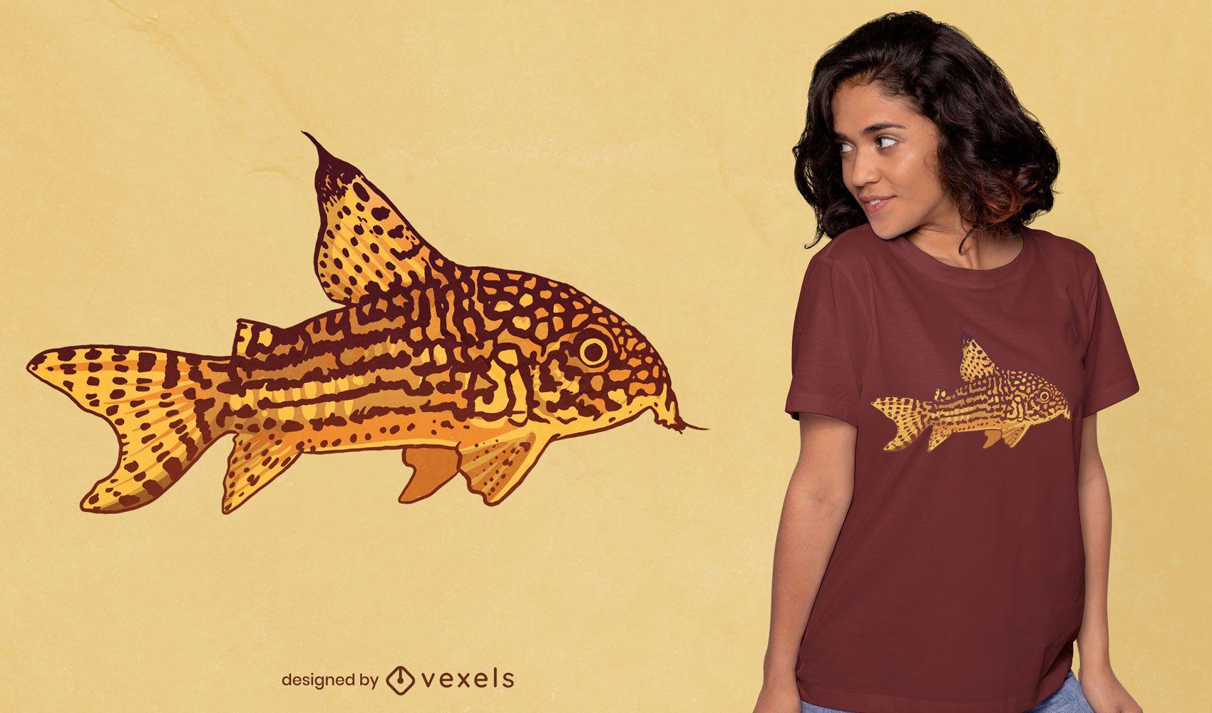 Catfish illustration t-shirt design