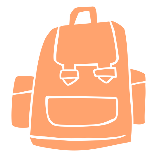 Pink schoolbag cut out