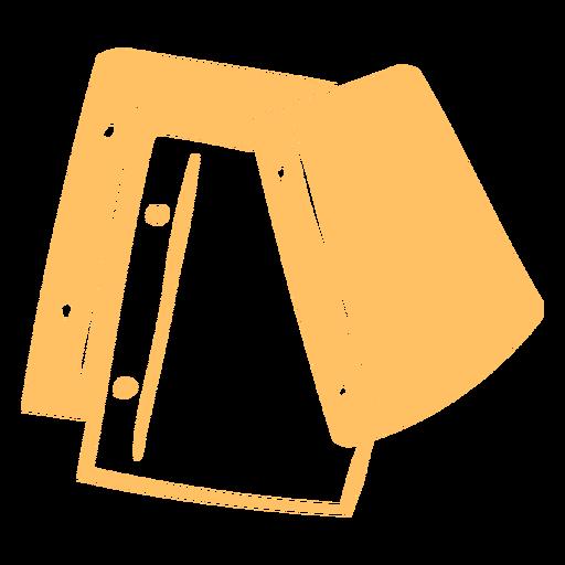 Pieces of paper cut-out doodle