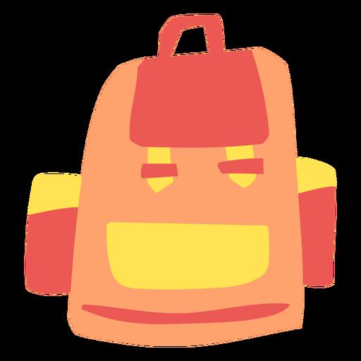 Orange backpack flat