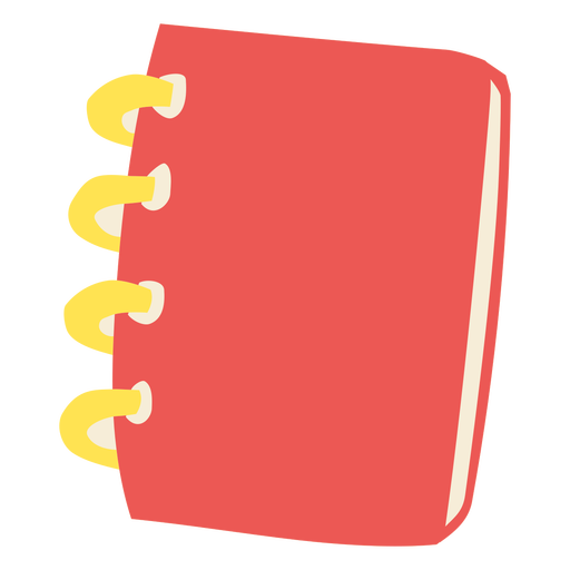 Red and yellow notebook flat