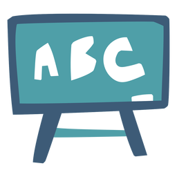 Whiteboard ABC flat
