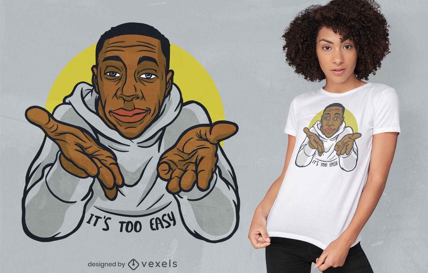Design de t-shirt com par?dia meme de solu??o f?cil