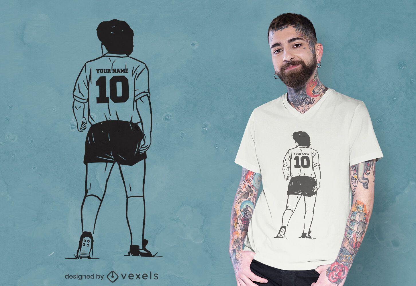 Diseño de camiseta de camiseta de fútbol de Maradona.