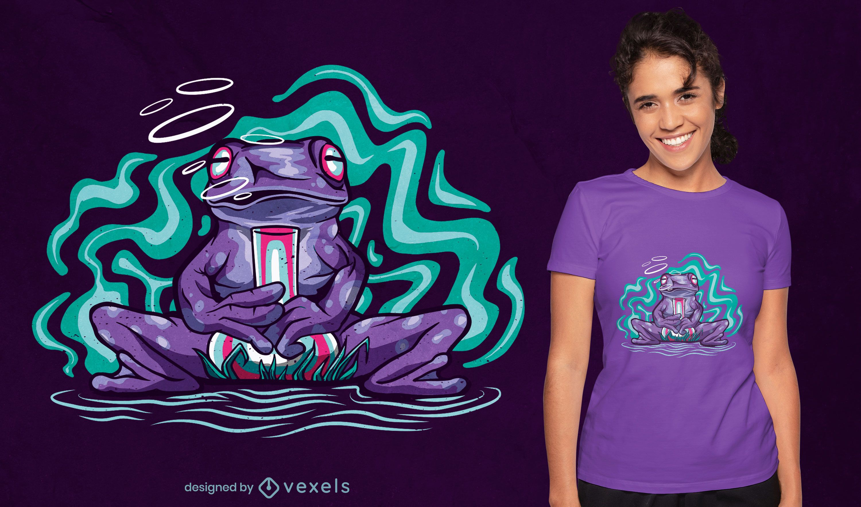 Psychedelic frog animal t-shirt design