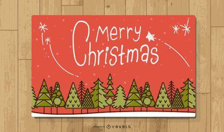 Vektor-Weihnachtsgrußkarten