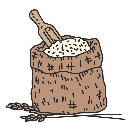 Flour and wheat illustration