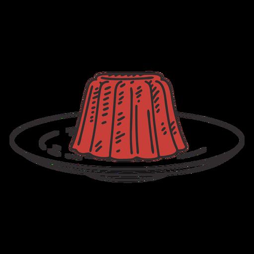 Jello on plate illustration