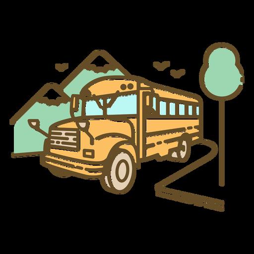 School-SchoolBus-Uniforme gráfico Monoline-VinylColor - 1
