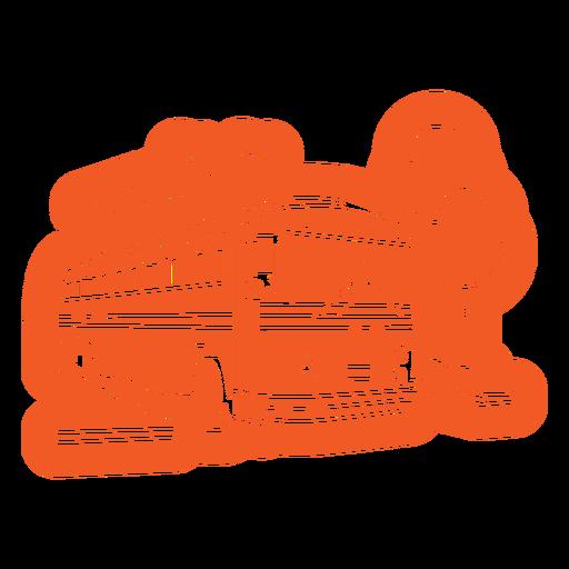 Front orange bus cut out