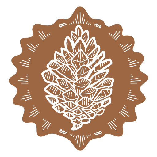 Brown pinecone cut out