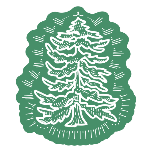 Green pine tree cut out
