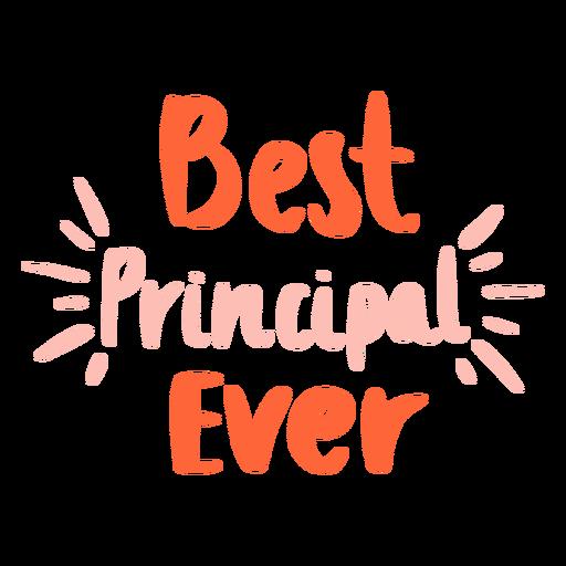 Best principal lettering sign