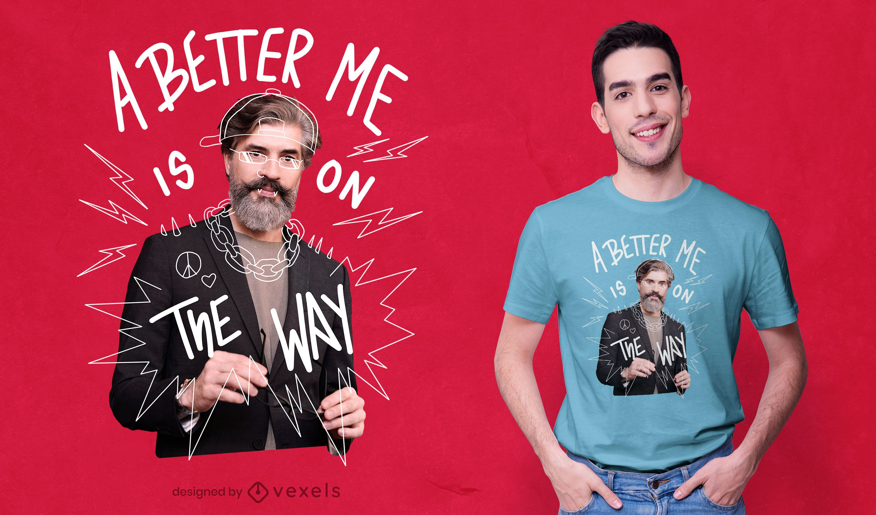 Better me is on the way psd t-shirt design