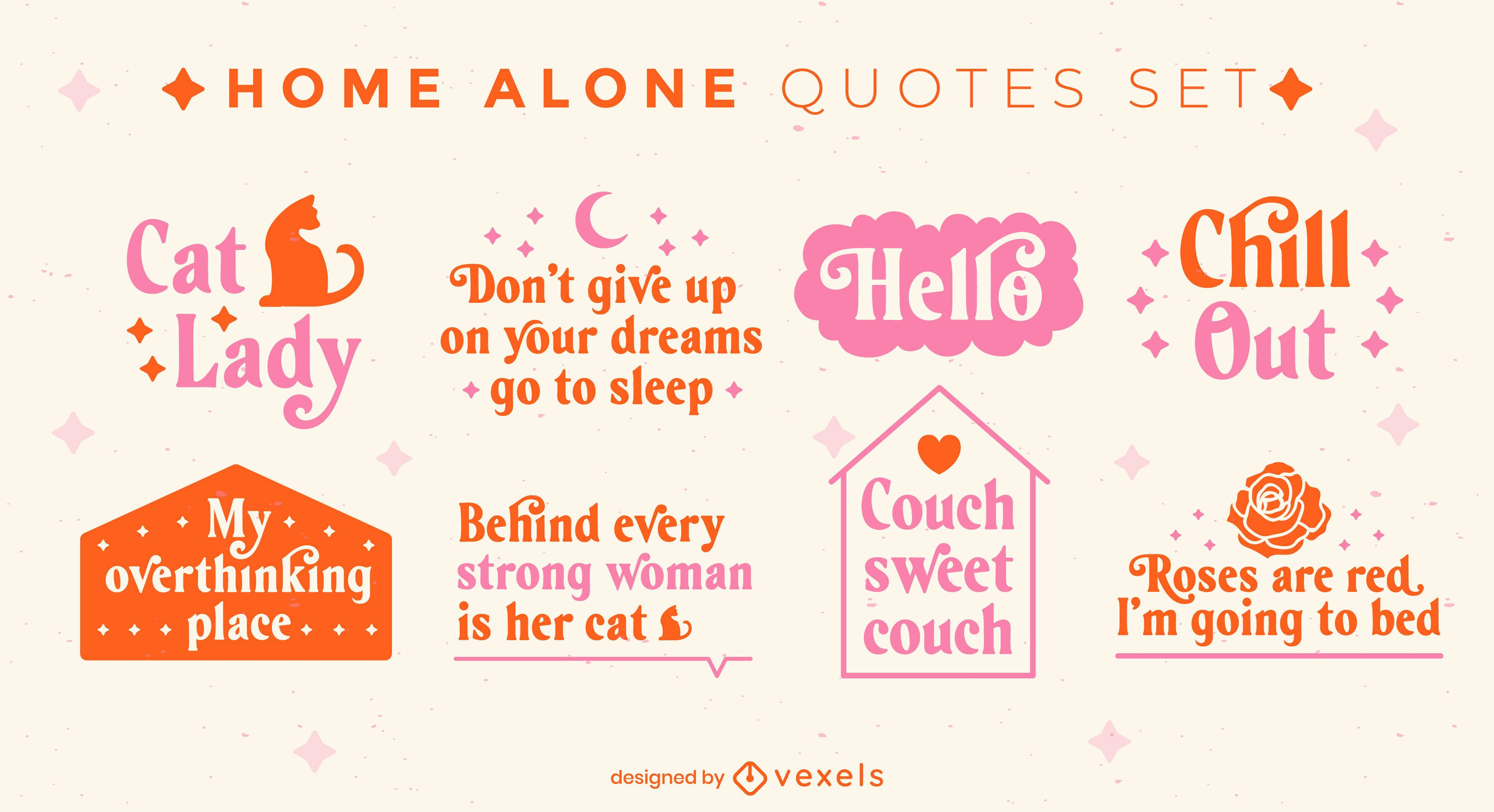 Classy home alone quotes set