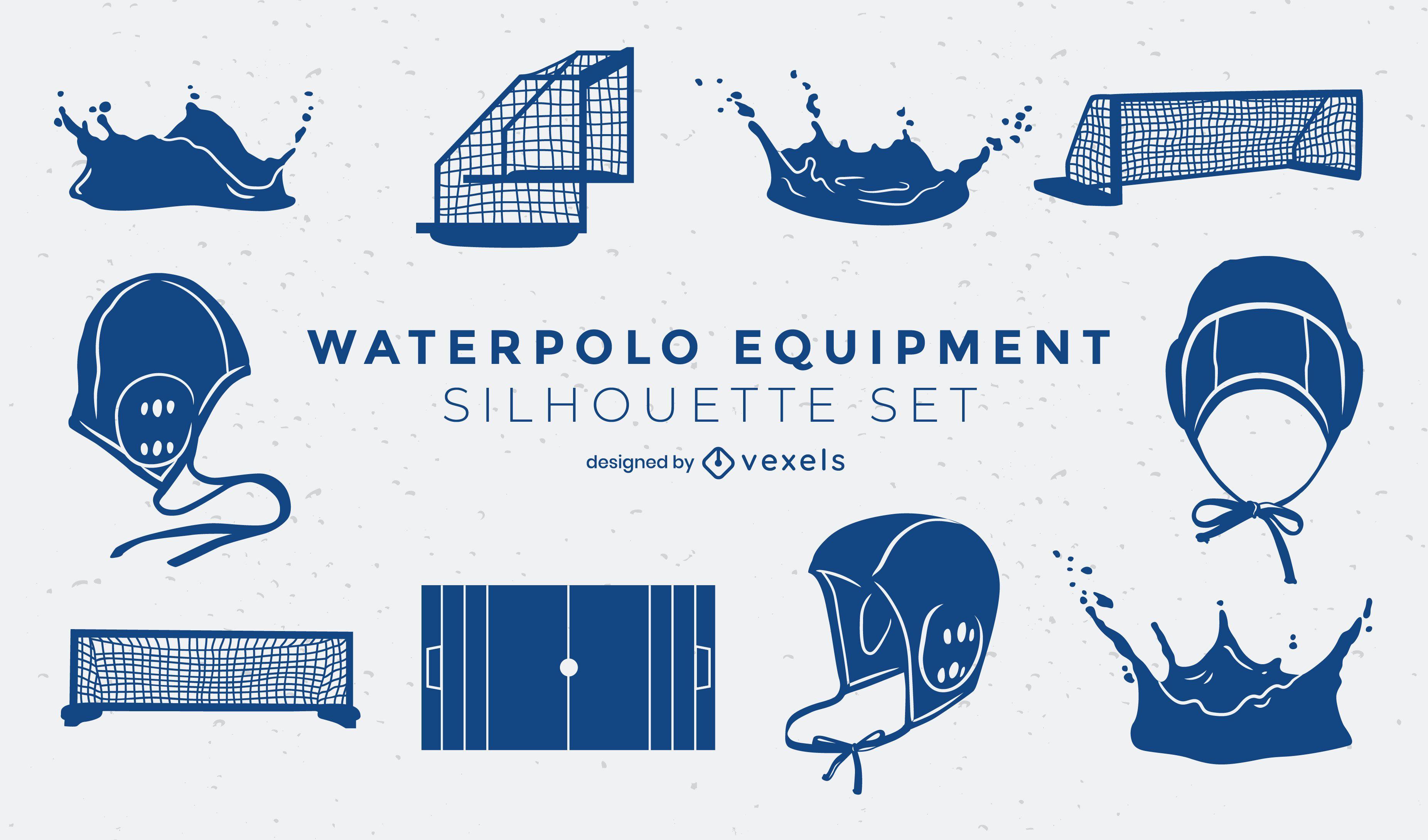 Wasserball-Elemente ausgeschnitten