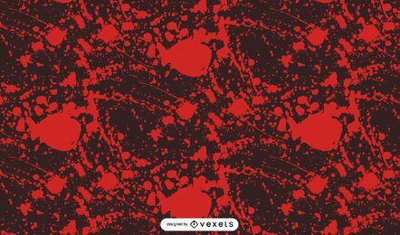 Diseño de patrón aterrador de salpicaduras de sangre