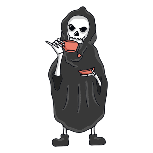 Grim Reaper tea character
