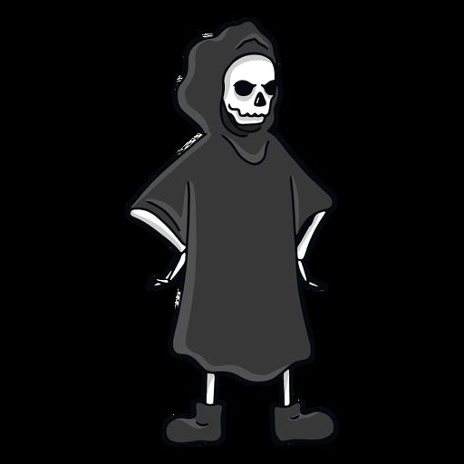 Grim Reaper hands on hips character