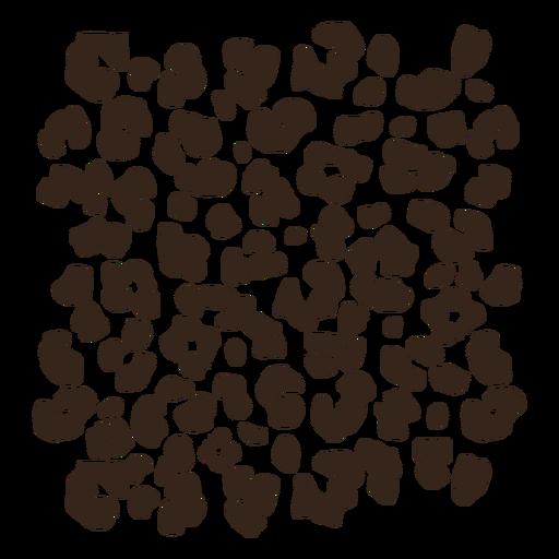 Leopard animal print pattern flat