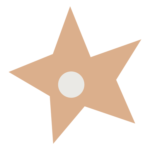 Cute pink star flat