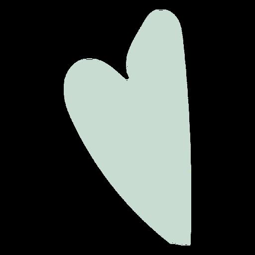 Corazón plano azul claro