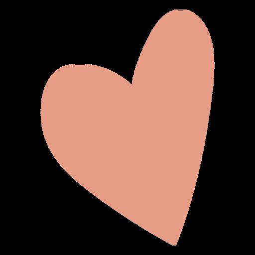 Cute pink heart flat