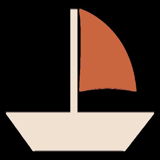 Sailboat with brown sail flat