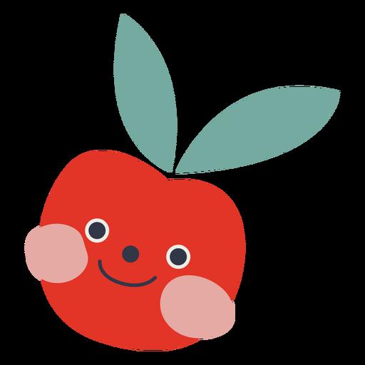 Cute tomato flat