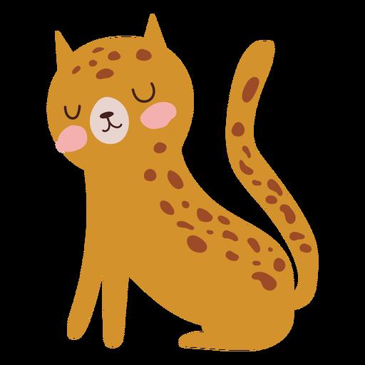 Cute leopard flat