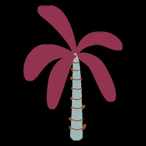 Purple palm tree semi flat