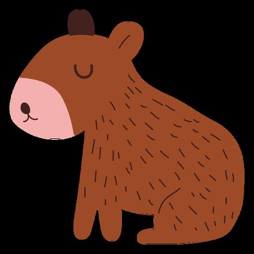 Cute capybara semi flat