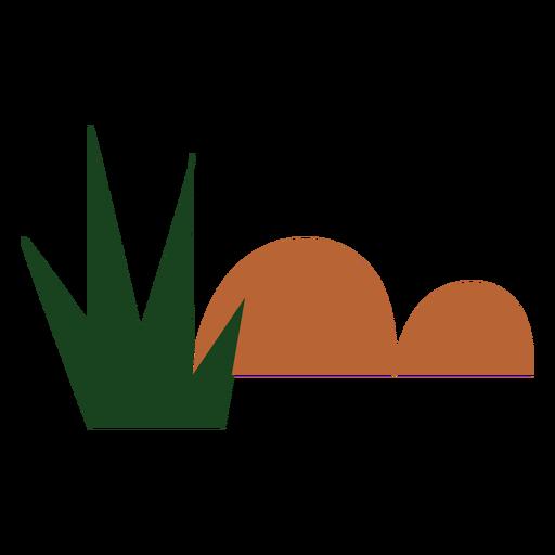 Hills with bush flat