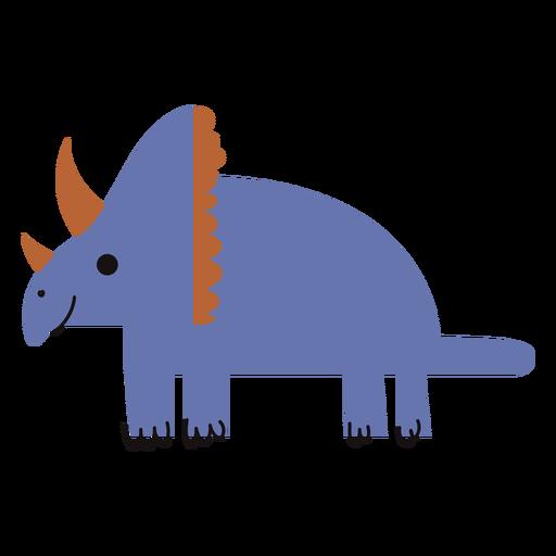Cute Triceratops flat