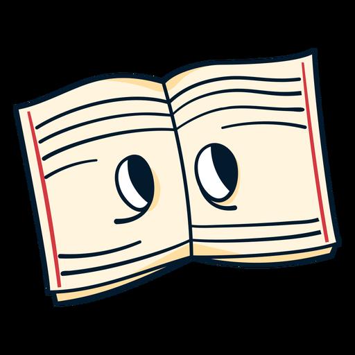 Open notebook cartoon