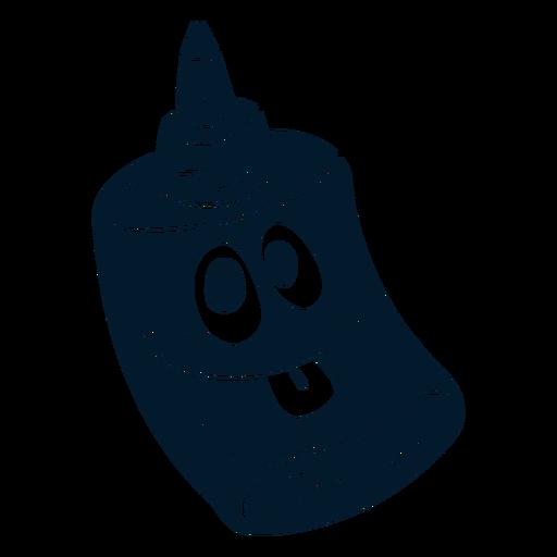 Glue cut-out cartoon