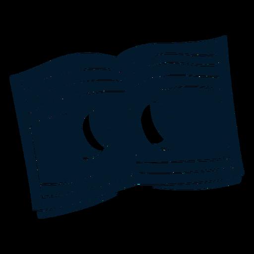 Notebook cut-out cartoon