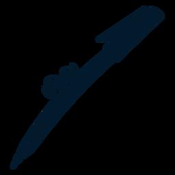 Pen cut-out cartoon