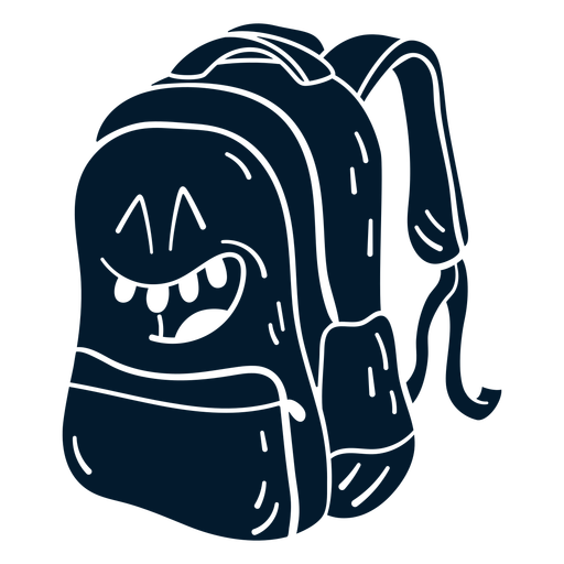 Backpack cut-out cartoon