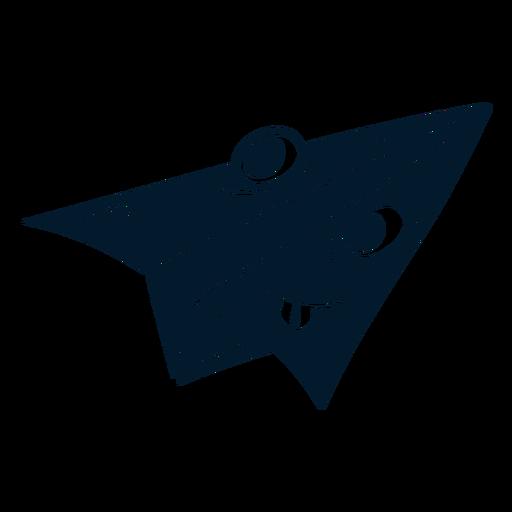 Paper plane cut-out cartoon