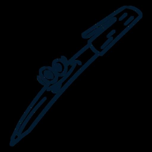 Pen stroke cartoon
