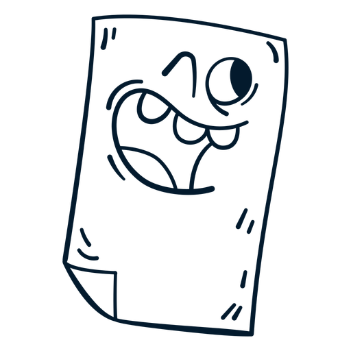 Piece of paper stroke cartoon