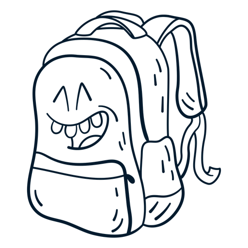 Backpack stroke cartoon