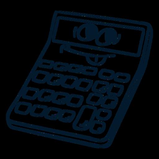 Calculator stroke cartoon