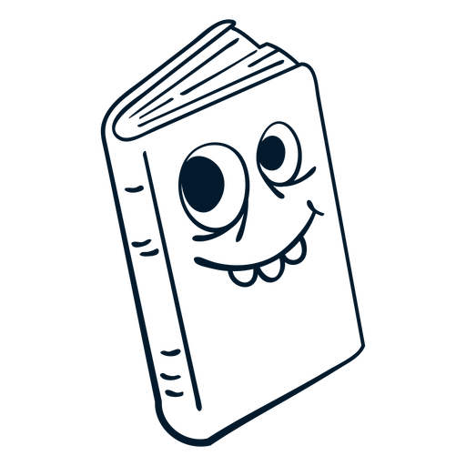 Closed book stroke cartoon