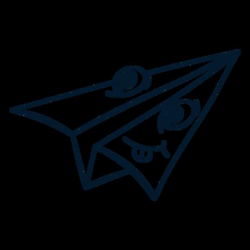 Paper plane stroke cartoon