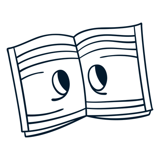 Notebook stroke cartoon